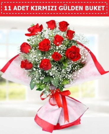 11 Adet Kırmızı Gül Buketi  Aydın incir çiçek internetten çiçek siparişi