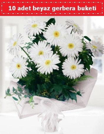 10 Adet beyaz gerbera buketi  Aydın incir çiçek çiçek , çiçekçi , çiçekçilik