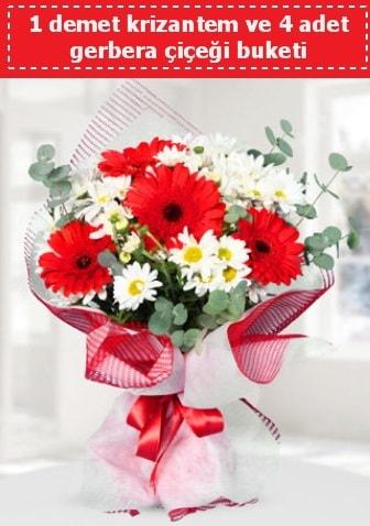 Krizantem ve Gerbera Buketi  Aydın incir çiçek çiçek siparişi sitesi